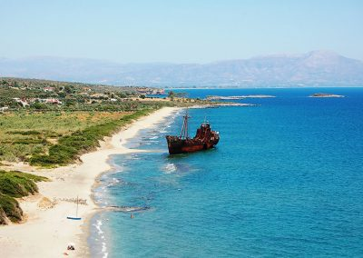 Dimitrios scheepswrak bij Valtaki beach