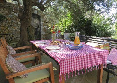 terras onder de olijfboom